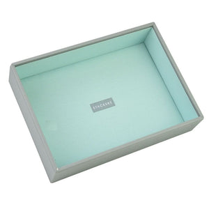 Stackers Dove Grey & Mint Classic Deep Open Jewellery Tray