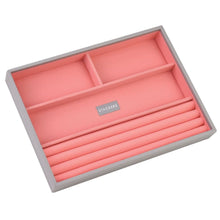 Stackers Dove Grey & Coral Classic 4 Section Jewellery Tray