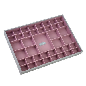 Stackers Dove Grey & Antique Rose Supersize Set of 3 Jewellery Trays