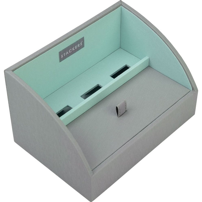 Stackers Dove Grey & Mint Mobile Friendly Valet Tray