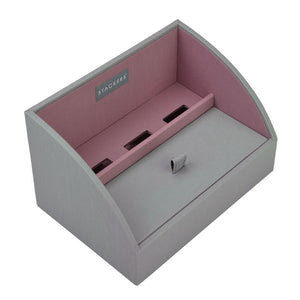 Stackers Dove Grey & Antique Rose Mobile Friendly Valet Tray
