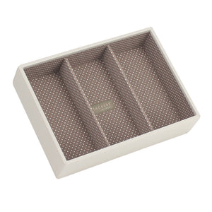 Stackers Vanilla & Mocha Classic Set of 2 With Wooden Lid Jewellery Trays