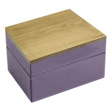 Stackers Purple & Purple Mini Set of 2 With Wooden Lid Jewellery Trays