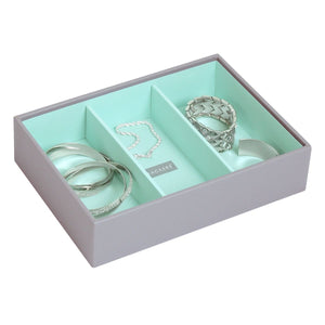 Stackers Dove Grey & Mint Classic Set of 3 Jewellery Trays