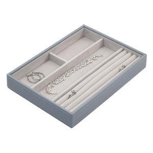 Stackers Dusky Blue Classic 4 Section Jewellery Tray