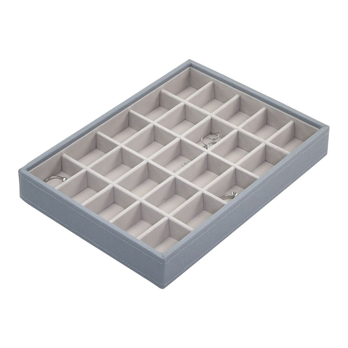 Stackers Dusky Blue Classic 25 Section Jewellery Tray