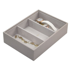 Stackers Taupe Classic Deep 3 Section Jewellery Tray