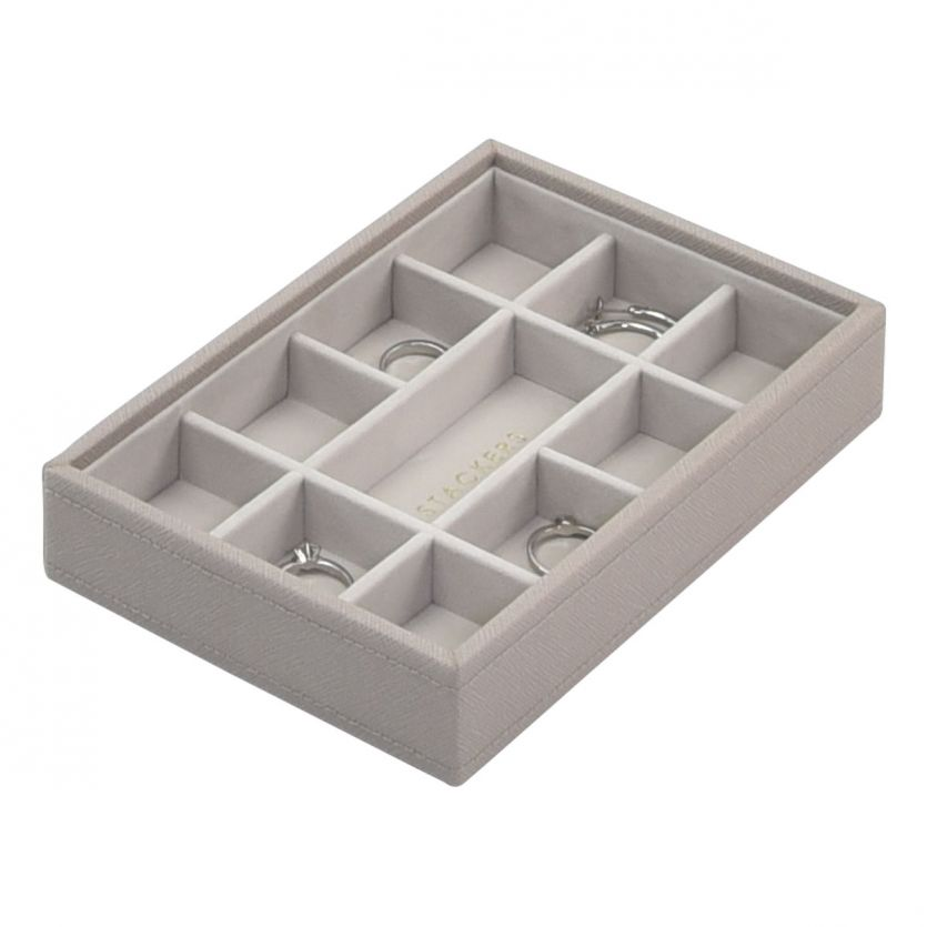Stackers Taupe Mini 11 Section Jewellery Tray
