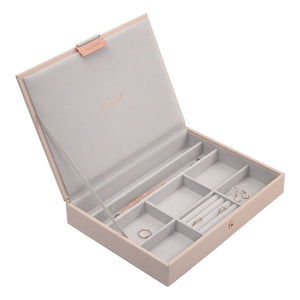 Stackers Blush Pink Classic Lidded Jewellery Tray