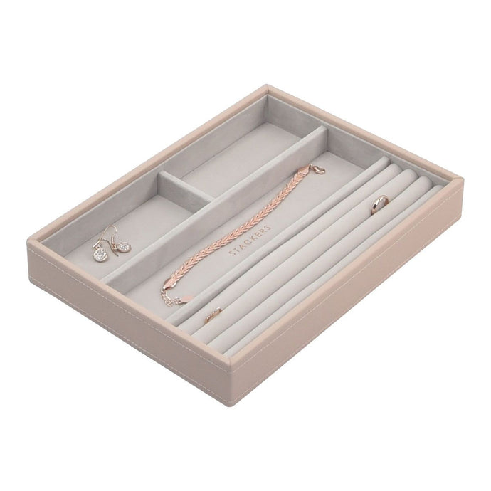 Stackers Blush Pink Classic 4 Section Jewellery Tray