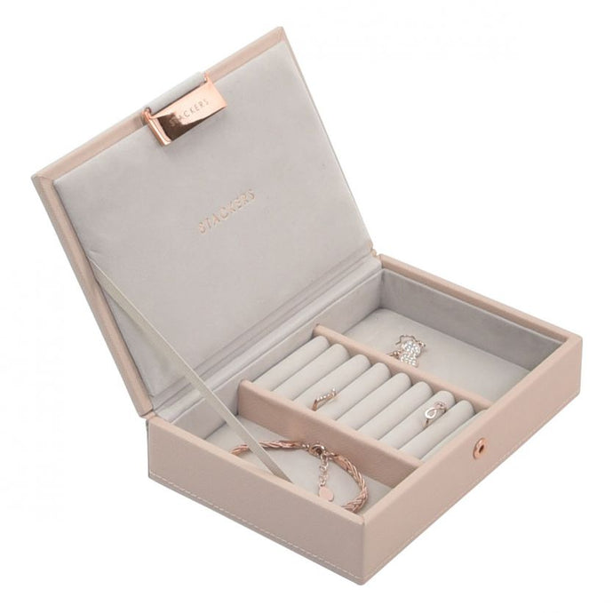 Stackers Blush Pink Mini Lidded Jewellery Tray