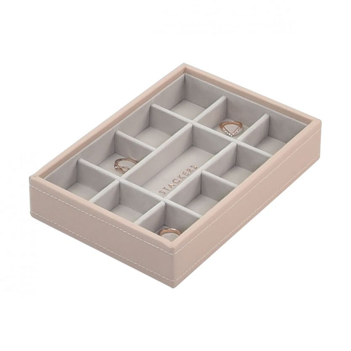 Stackers Blush Pink Mini 11 Section Jewellery Tray