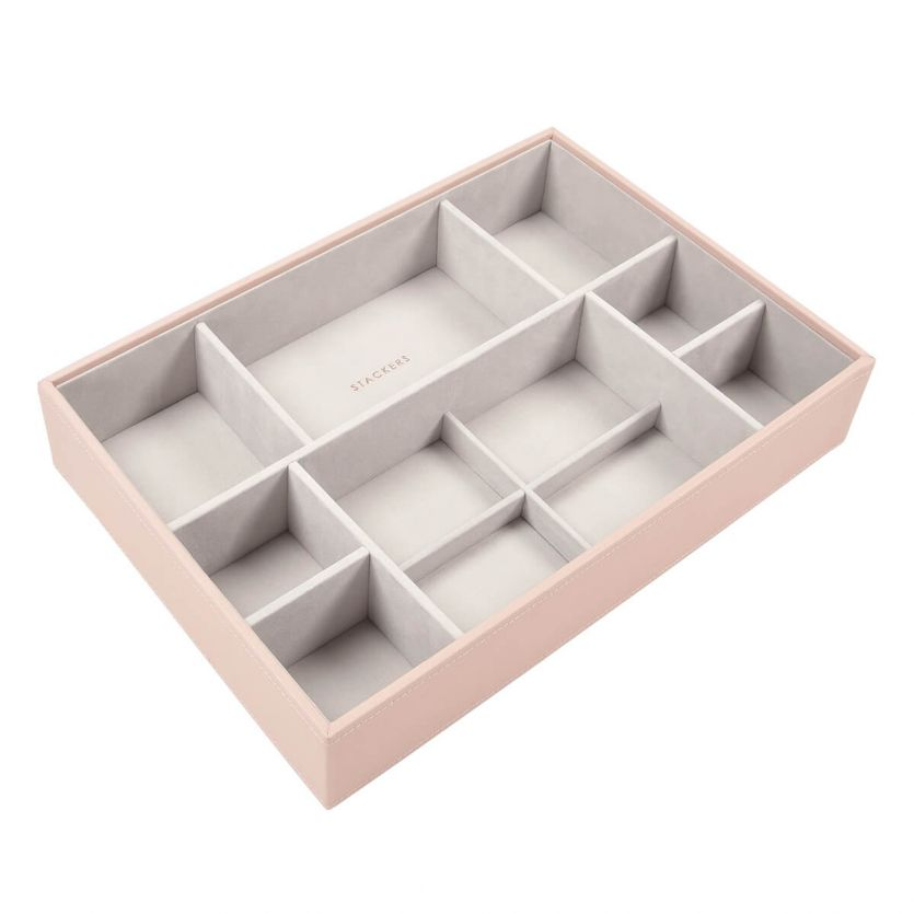 Stackers Blush Pink Supersize Deep Sectioned Jewellery Tray
