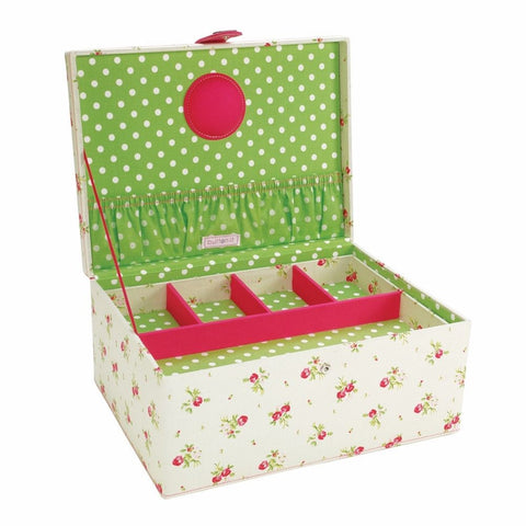 Button It Large Floral Sewing Box
