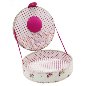 Button It Floral Stacking Sewing/Needlework Tray Lid