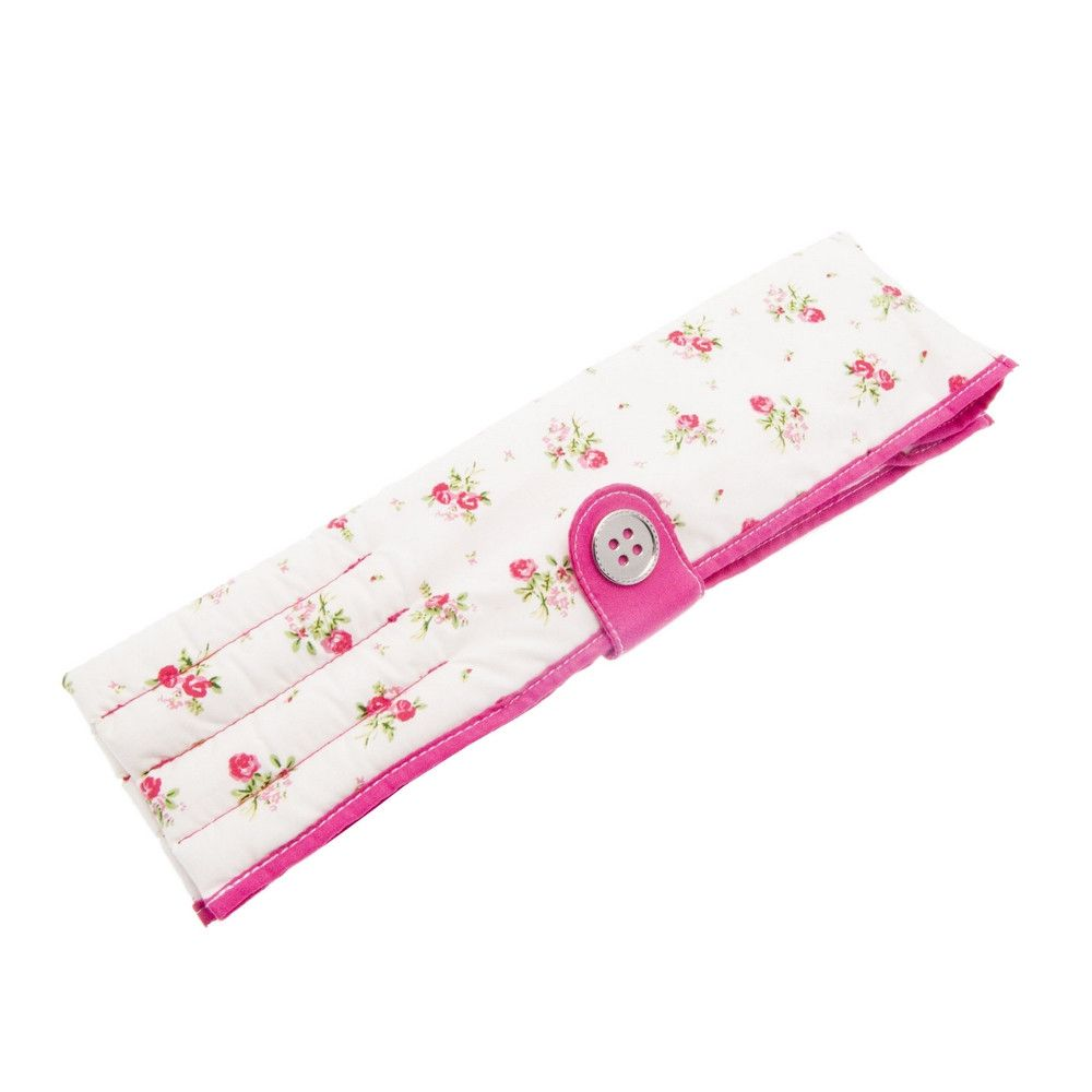 Button It Floral Knitting Needle Roll