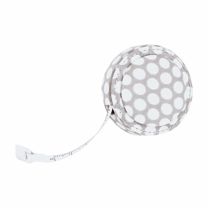 Button It Mink Polka Dot Sewing Tape Measure