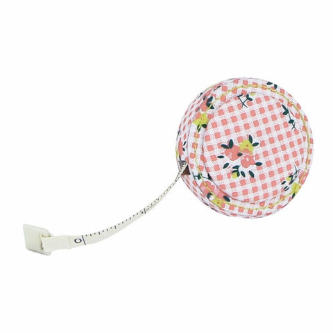 Button It Coral Floral Sewing Tape Measure