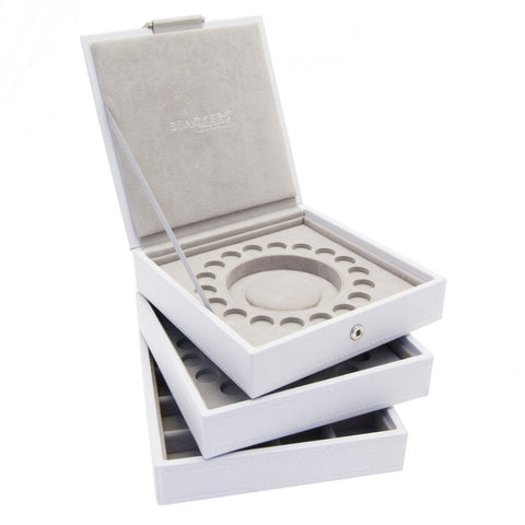 Stackers Set Of Three White Charm Bracelet Stacker Jewellery Trays