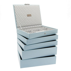 Stackers Set of 5 Blue Grey Medium Stacker Jewellery Trays
