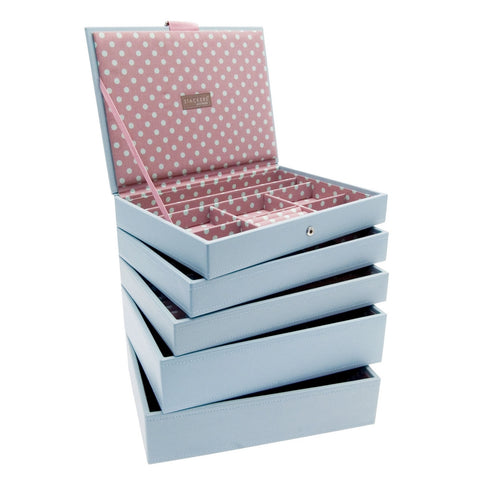 Stackers Set of 5 Blue & Pink Medium Stacker Jewellery Trays