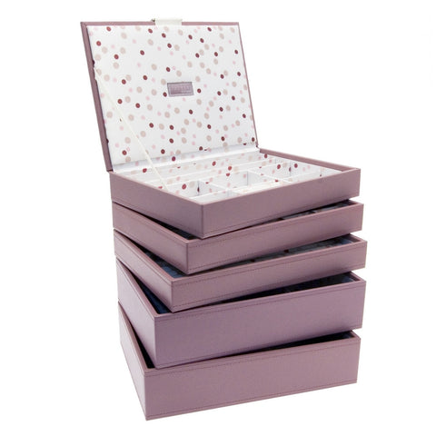 Stackers Set of 5 Pink Spot Medium Stacker Jewellery Trays