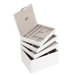 Stackers Set of 5 White & Grey Stacker Jewellery Trays