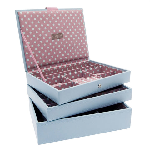 Stackers Set of 3 Blue Pink Medium Stacker Jewellery Trays