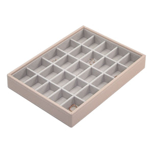 Stackers Blush Pink Classic Set of 2 With Wooden Lid Jewellery Trays