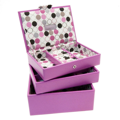 Stackers Set of 3 Pink Stacker Jewellery Trays