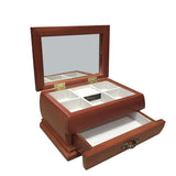 Mele & Co 2cm Real Wood Trinket Jewellery Box