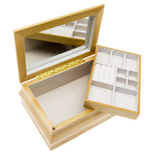 Mele & Co Fenella Champagne Wood Chest Jewellery Box