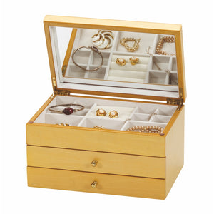 Mele & Co Delia Champagne Rose Inlayed Jewellery Box