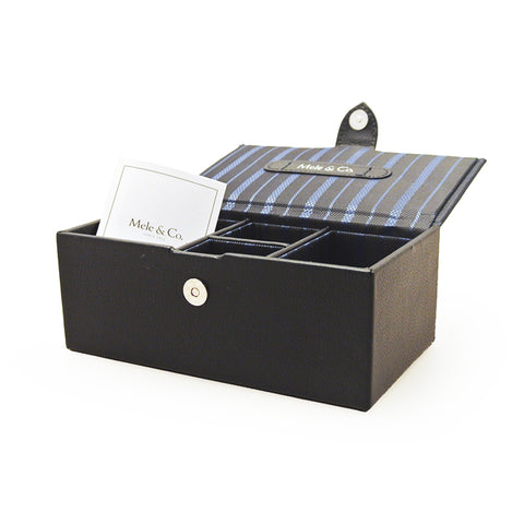 Mele & Co Blue Striped Watch Box