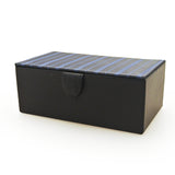 Blue Striped Watch Box