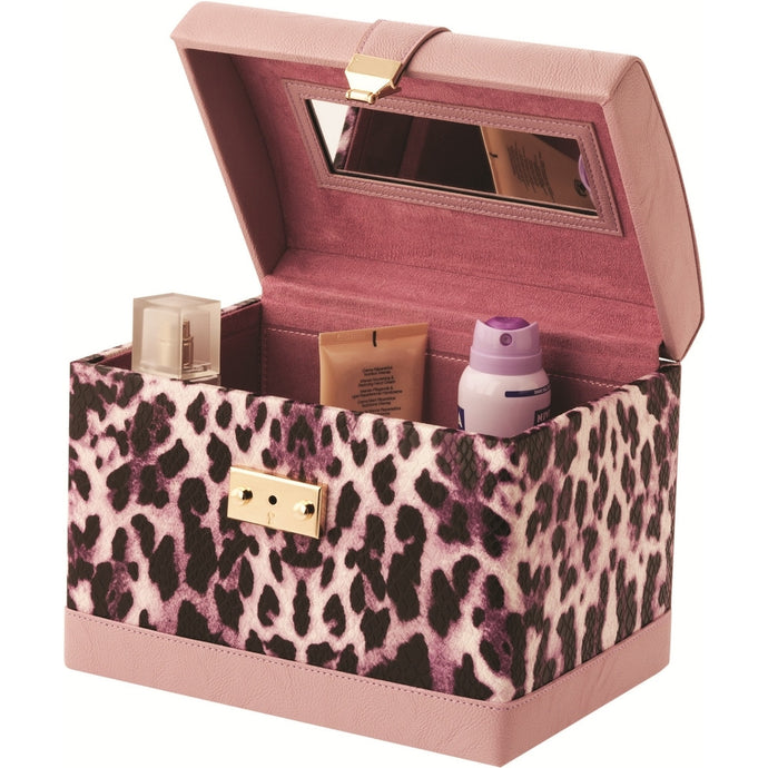 Mele & Co Phillipa Purple Leopard Fashion Cosmetic Box