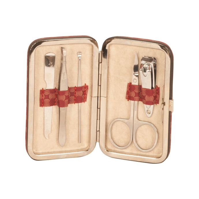Mele & Co Claret Collection Manicure Set