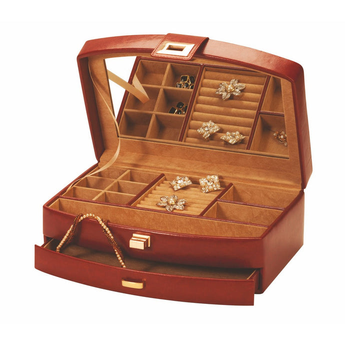 Mele & Co Leola Brown Leatherette Jewellery Box