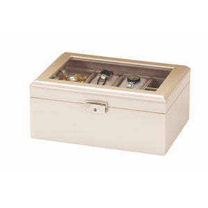 Mele & Co Georgie Lustrous Allure Cream Jewellery Box