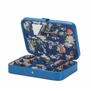 Mele & Co Kirsten Dark Floral Flat Jewellery Box