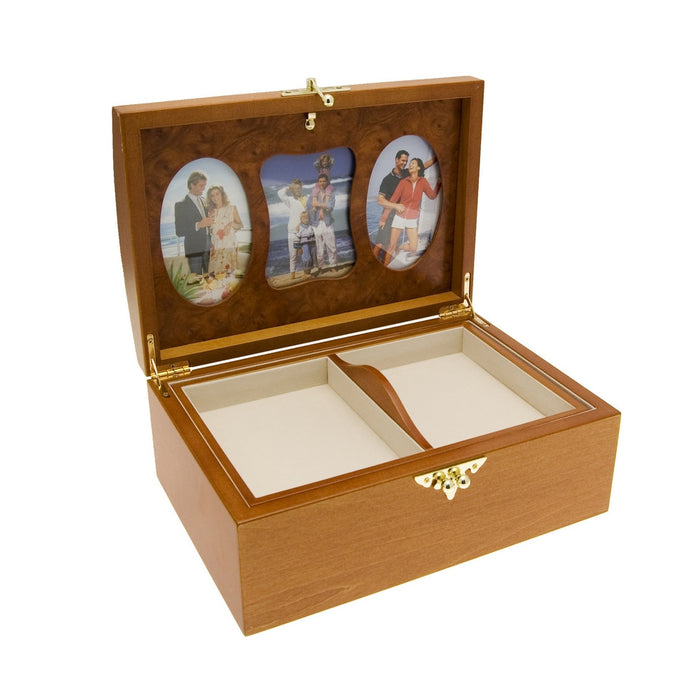 Mele & Co Oak Finish Special Memory & Photo Box