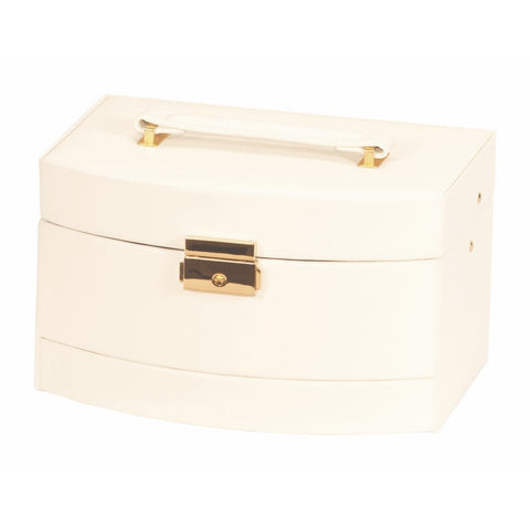 Mele & Co Consort Cream and Tan Jewellery Box