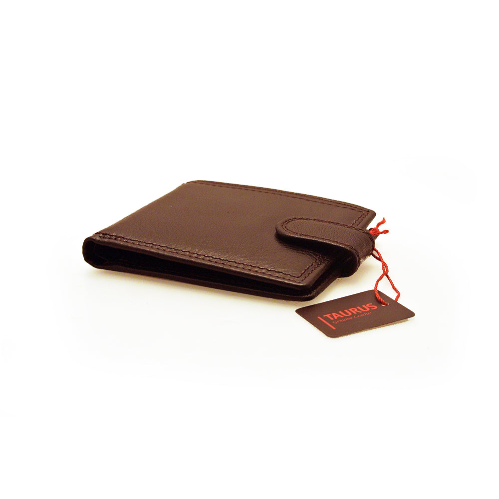 Taurus Genuine Leather Dark Brown Men's Wallet