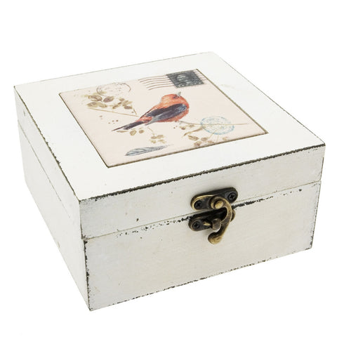 Transomnia Distressed Orange Bird Trinket Jewellery Box