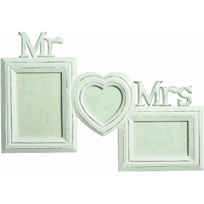 Transomnia Large Mr & Mrs Wood Photo Frame