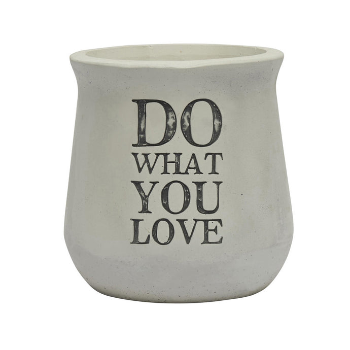 Transomnia 'Do What You Love' Concrete Planter