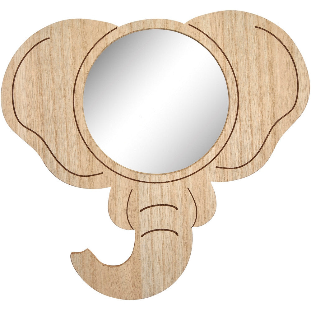 Transomnia Elephant Wooden Children's Wall Mirror