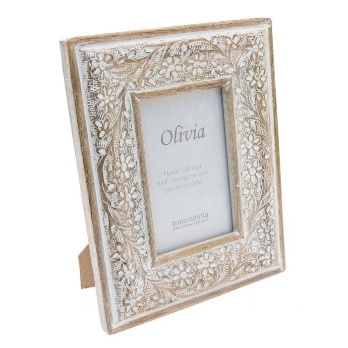 Transomnia 6x4 Olivia Wooden Photo Frame
