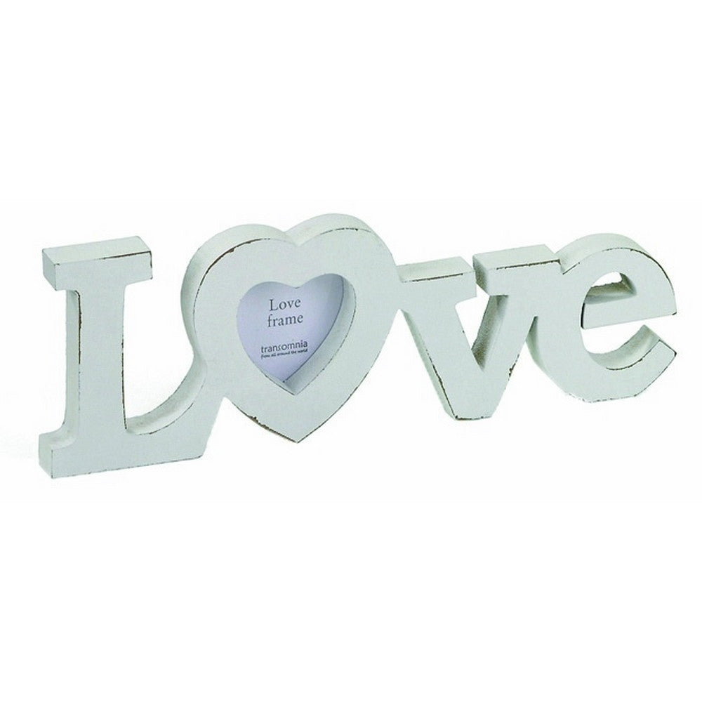 Transomnia Love Wood Photo Frame