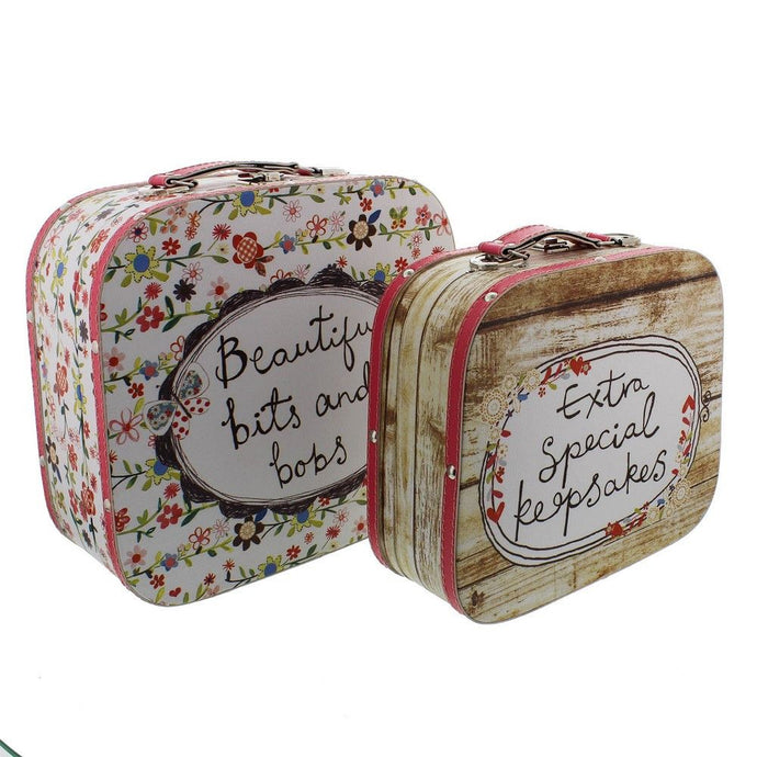 Juliana Bits & Bobs Set Of 2 Luggage Style Storage Box